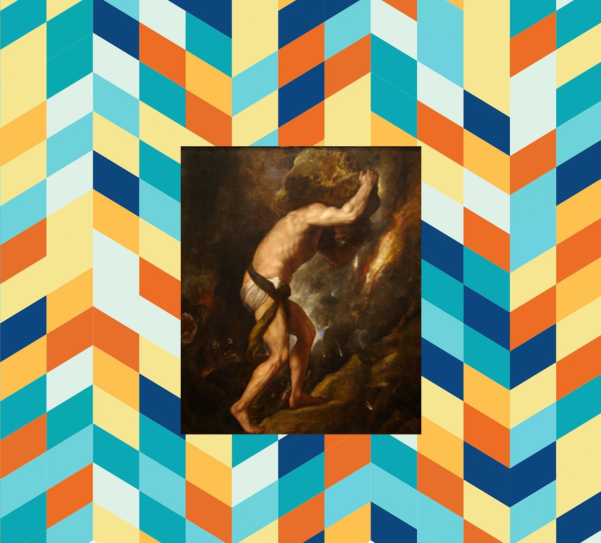Sisyphus on geometric background